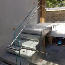 Stainless & Frameless Glass stairs